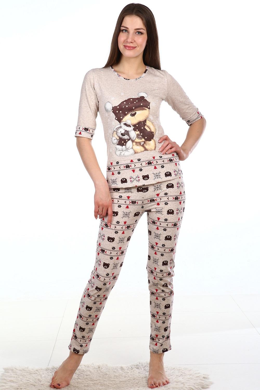Костюм женский Дружба блуза и брюкиДомашняя одежда<br><br><br>Размер: 50