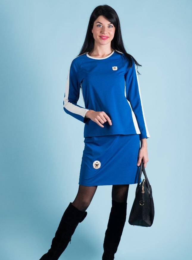 Костюм женский Ева футболка и юбкаКоллекция ОСЕНЬ-ЗИМА<br><br><br>Размер: Красный