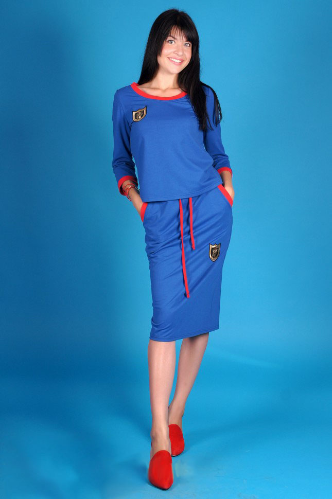 Костюм женский Гарвард футболка и юбкаКоллекция ОСЕНЬ-ЗИМА<br><br><br>Размер: 46