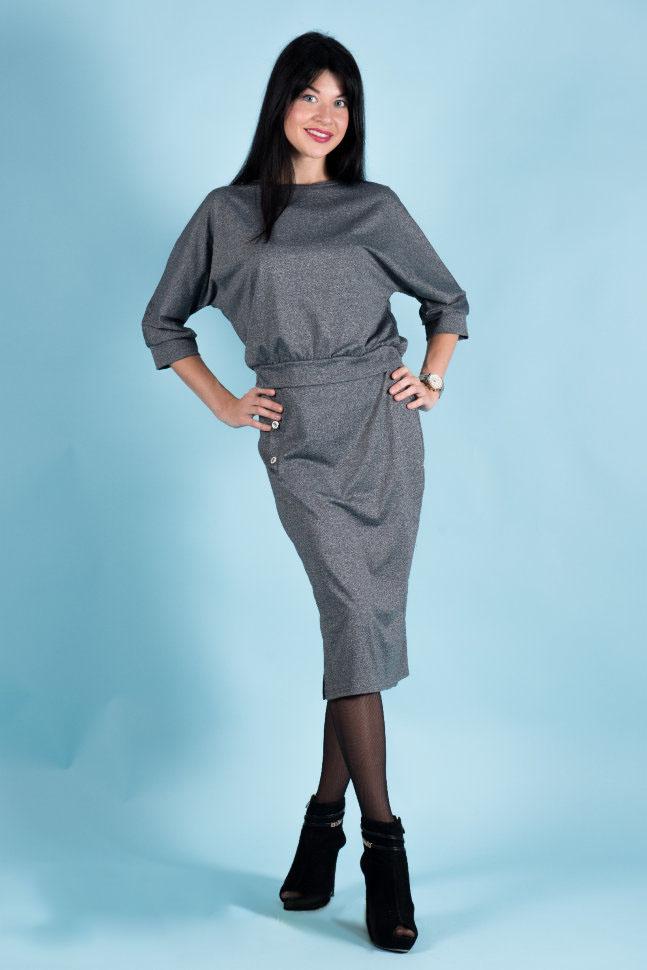 Костюм женский Илона туника и юбкаКоллекция ОСЕНЬ-ЗИМА<br><br><br>Размер: 44