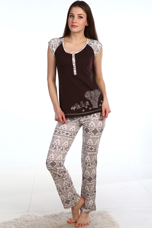 Костюм женский Кира блуза и брюкиДомашняя одежда<br><br><br>Размер: 46