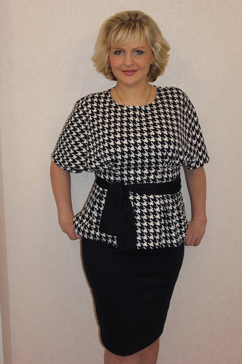 Костюм женский Николь блуза и юбкаКоллекция ОСЕНЬ-ЗИМА<br><br><br>Размер: 52
