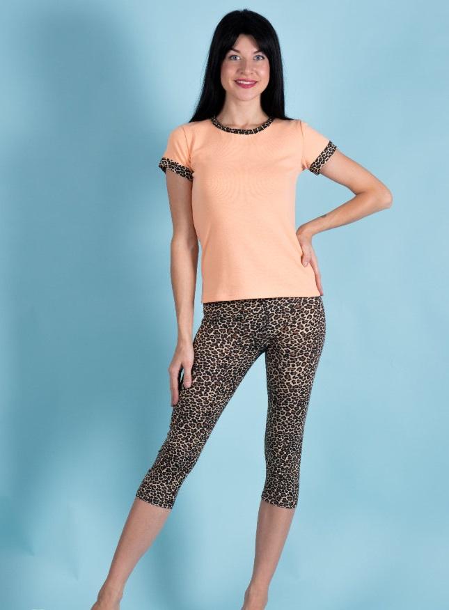 Костюм женский Селина футболка и бриджиДомашняя одежда<br><br><br>Размер: 56