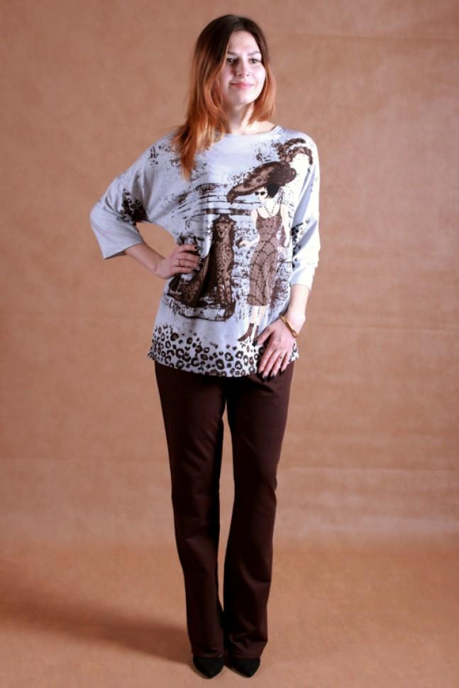 Костюм женский Винтаж туника и брюкиКостюмы<br><br><br>Размер: 50