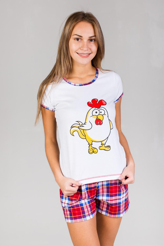 Костюм женский Петушок футболка и шортыКостюмы<br><br><br>Размер: 44