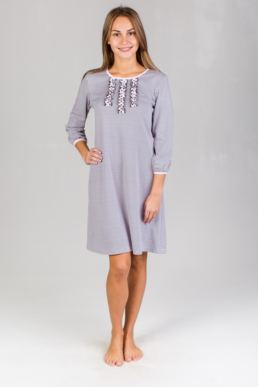 Сорочка женская Елизавета с рюшамиДомашняя одежда<br><br><br>Размер: 48
