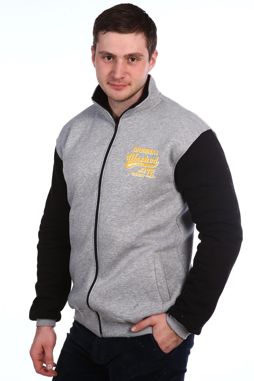 Олимпийка мужская Vintage Stile на молнииДжемперы, свитеры, толстовки<br><br><br>Размер: Серый