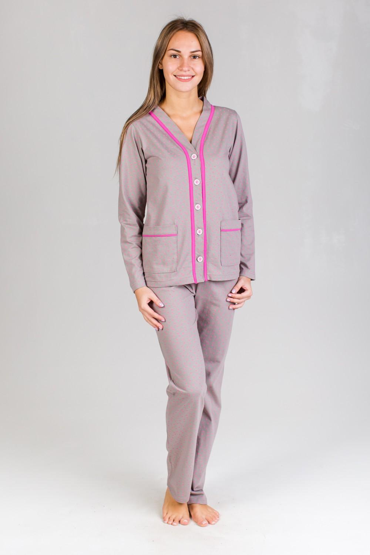 Пижама женская Есения кофта и брюкиДомашняя одежда<br><br><br>Размер: 46