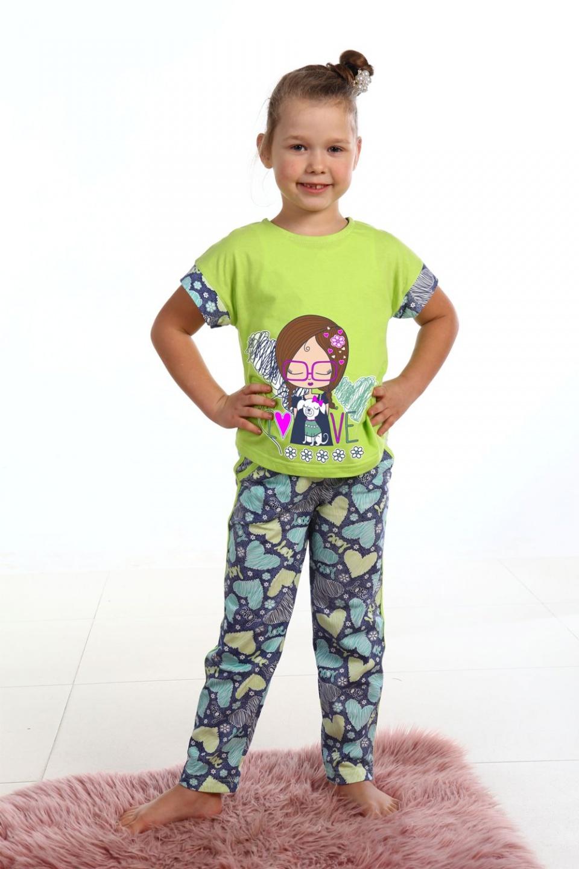 Пижама детская Барышня для девочкиХалаты и пижамы<br><br><br>Размер: 34 (рост 134)