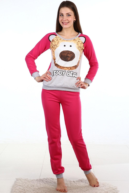 Пижама женская Лаки кофта и брюкиДомашняя одежда<br><br><br>Размер: 52