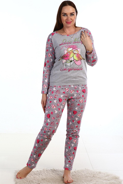 Пижама женская Сюрприз кофта и брюкиДомашняя одежда<br><br><br>Размер: 58