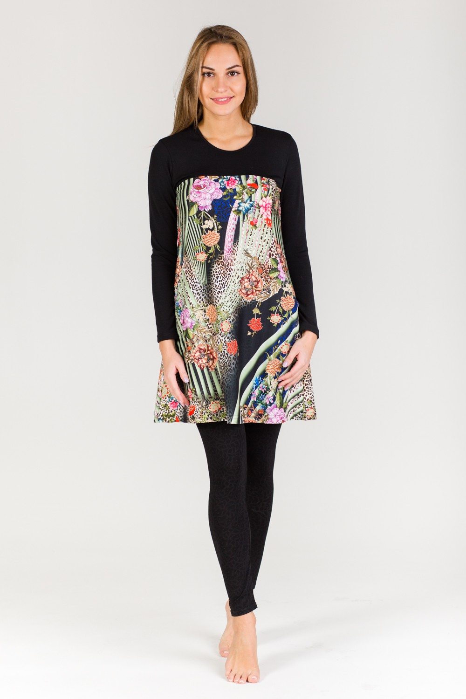 Платье-туника женское Сандра с карманамиКоллекция ОСЕНЬ-ЗИМА<br><br><br>Размер: 42