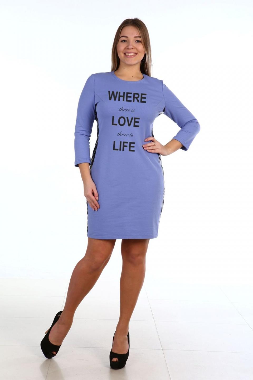 Платье женское Анора с надписьюКоллекция ОСЕНЬ-ЗИМА<br><br><br>Размер: 48