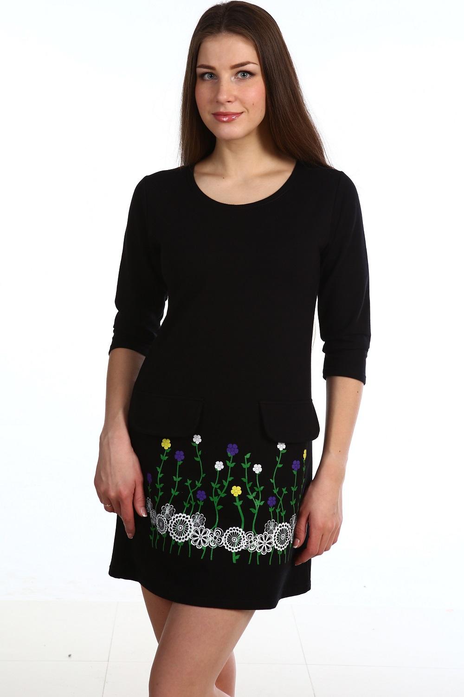 Платье женское Бархат с рукавом 3/4Платья и сарафаны<br><br><br>Размер: 42