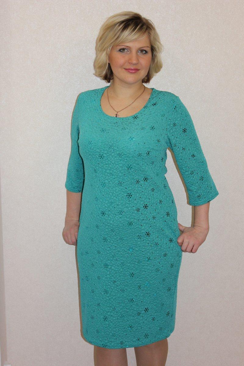 Платье женское Метелица с круглым вырезомКоллекция ОСЕНЬ-ЗИМА<br><br><br>Размер: 50