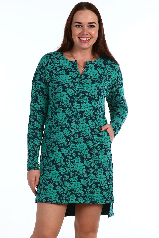 Платье женское Мята с разноуровневым подоломПлатья и сарафаны<br><br><br>Размер: 46