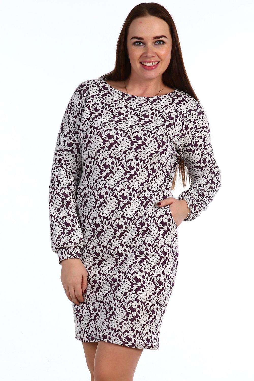 Платье женское Снегурочка с длинным рукавомКоллекция ОСЕНЬ-ЗИМА<br><br><br>Размер: Фиолетовый