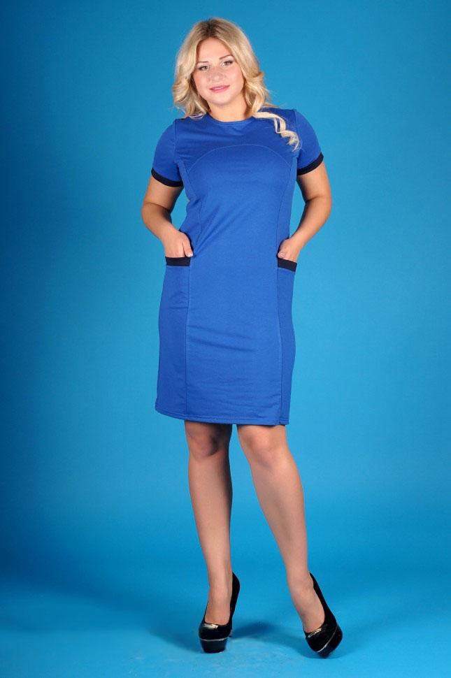 Платье женское Аллегра с коротким рукавомПлатья и сарафаны<br><br><br>Размер: 54