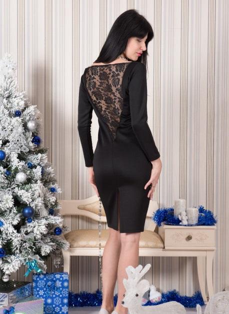 Платье женское Ампир с гипюромКоллекция ОСЕНЬ-ЗИМА<br><br><br>Размер: 42