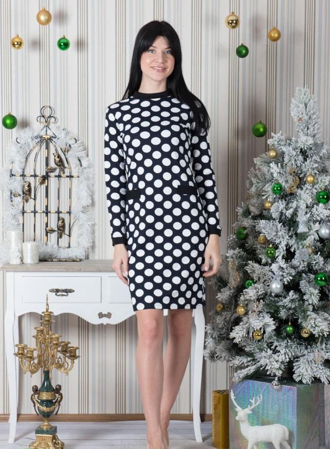 Платье женское Беттина с длинным рукавомКоллекция ОСЕНЬ-ЗИМА<br><br><br>Размер: 48