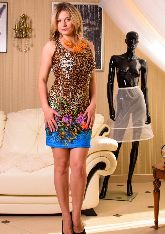 Платье женское Дикая орхидея без рукаваПлатья и сарафаны<br><br><br>Размер: 52