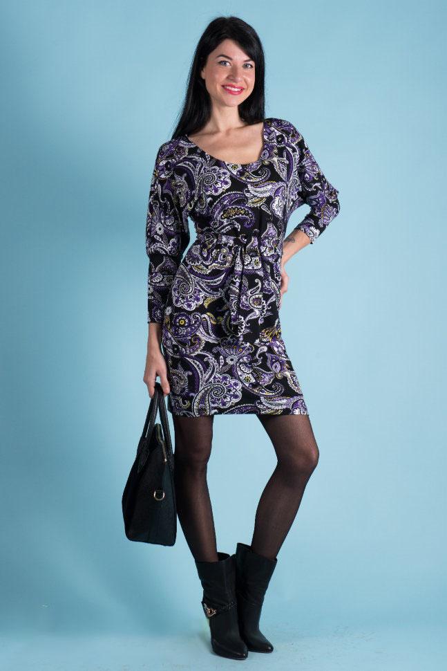 Платье женское Эрминия с поясомКоллекция ОСЕНЬ-ЗИМА<br><br><br>Размер: 48