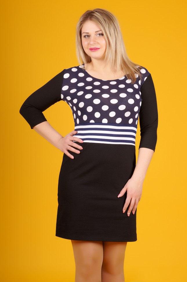 Платье женское Франка с рукавом 3/4Коллекция ОСЕНЬ-ЗИМА<br><br><br>Размер: 52