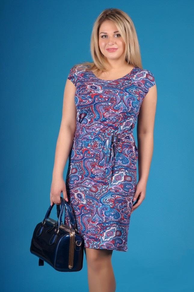 Платье женское Калвина с имитацией поясаПлатья и сарафаны<br><br><br>Размер: 52
