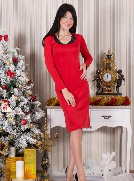 Платье женское Мадлен с длинным рукавомКоллекция ОСЕНЬ-ЗИМА<br><br><br>Размер: Фуксия