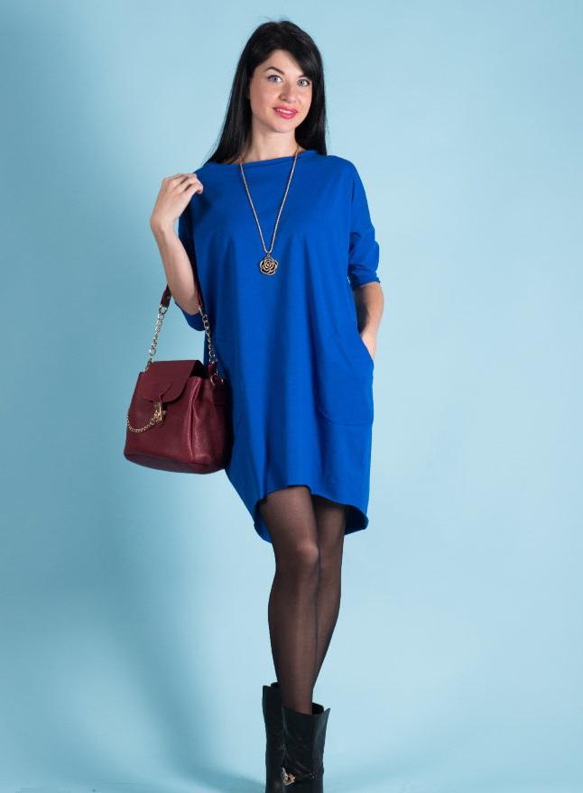 Платье женское Мирелла свободного силуэтаКоллекция ОСЕНЬ-ЗИМА<br><br><br>Размер: 44-46