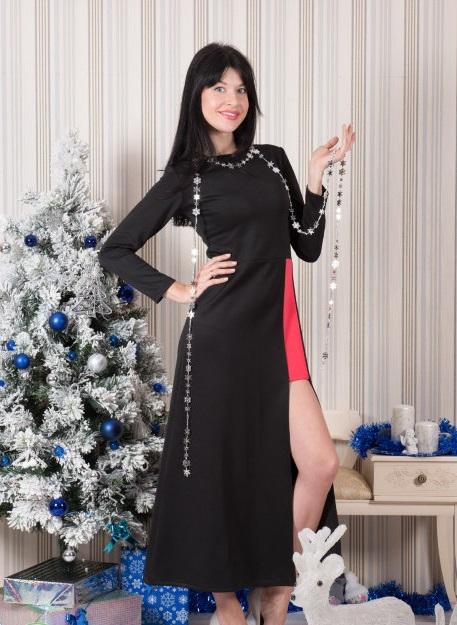 Платье женское Орнелла с глубоким разрезомКоллекция ОСЕНЬ-ЗИМА<br><br><br>Размер: 50