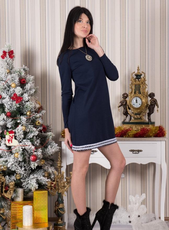 Платье женское Петра с длинны рукавомКоллекция ОСЕНЬ-ЗИМА<br><br><br>Размер: 50
