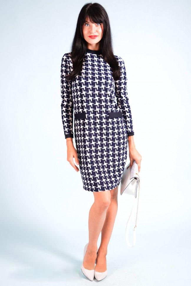 Платье женское Тина с длинным рукавомКоллекция ОСЕНЬ-ЗИМА<br><br><br>Размер: 52