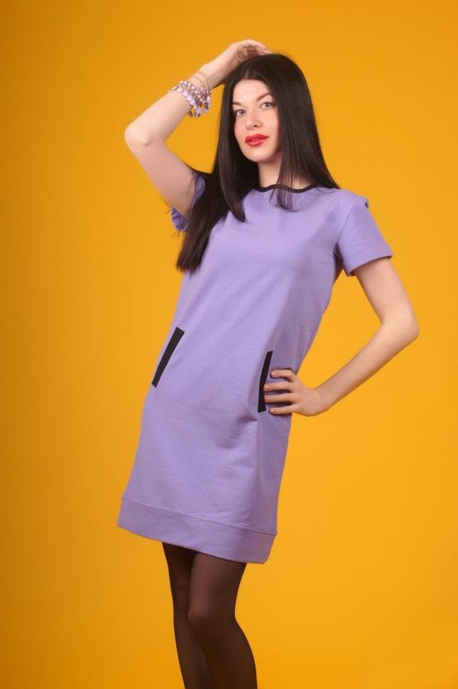 Платье женское Васса с коротким рукавомПлатья и сарафаны<br><br><br>Размер: 48