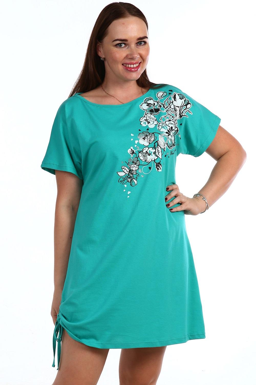 Сорочка женская Росария с коротким рукавомДомашняя одежда<br><br><br>Размер: 46