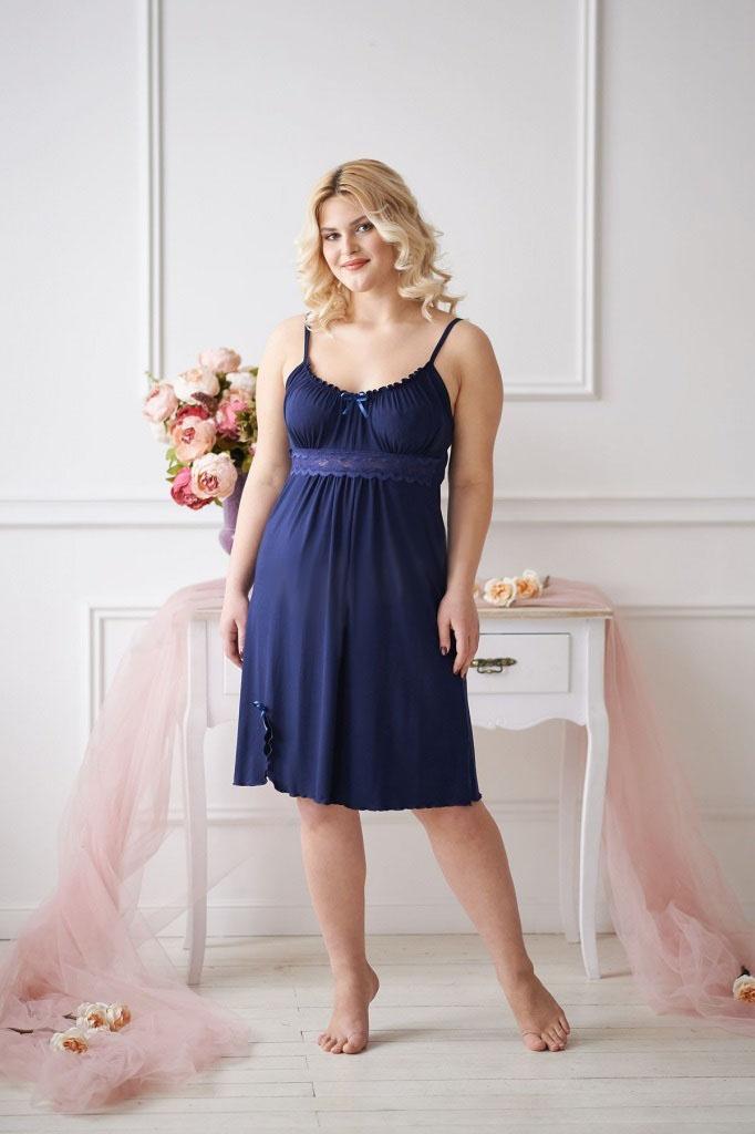 Сорочка женская Карина на тонких бретеляхДомашняя одежда<br><br><br>Размер: 44