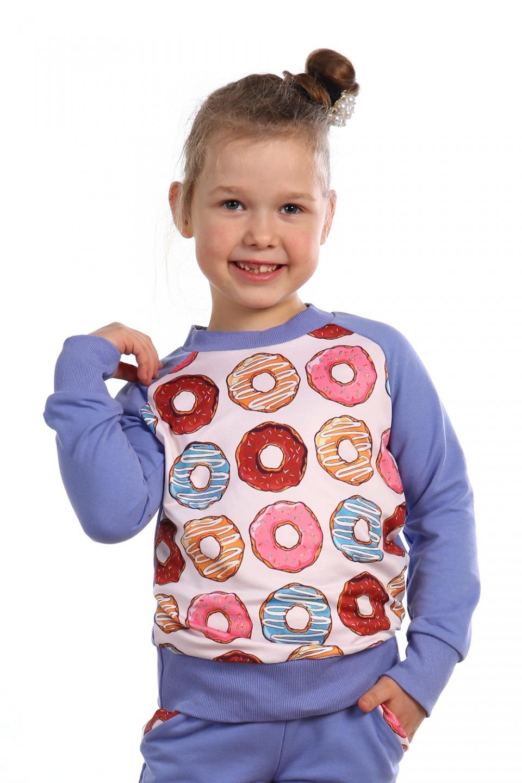 Толстовка детская Сладкая жизнь для девочкиКоллекция ОСЕНЬ-ЗИМА<br><br><br>Размер: 32 (рост 128)