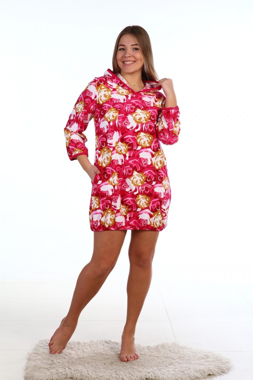 Туника женская Сильва с капюшономКоллекция ОСЕНЬ-ЗИМА<br><br><br>Размер: Розовый