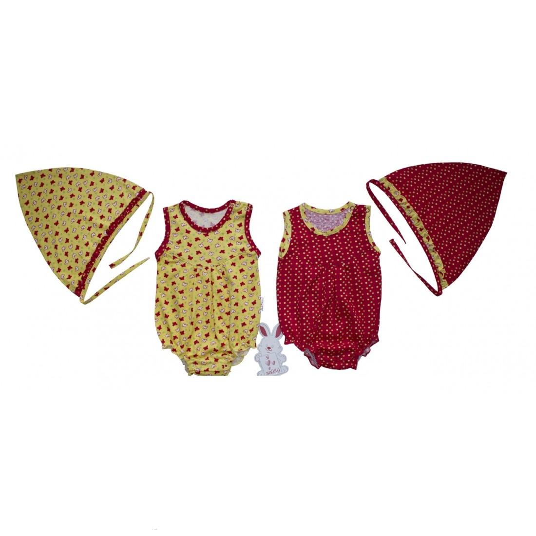Боди для девочки без рукавов с косынкой ЗайкаБоди и песочники<br><br><br>Размер: Желтый