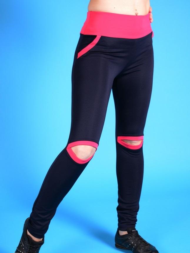 Брюки женские Аэробика с разрезамиСпортивные брюки, трико<br><br><br>Размер: 52