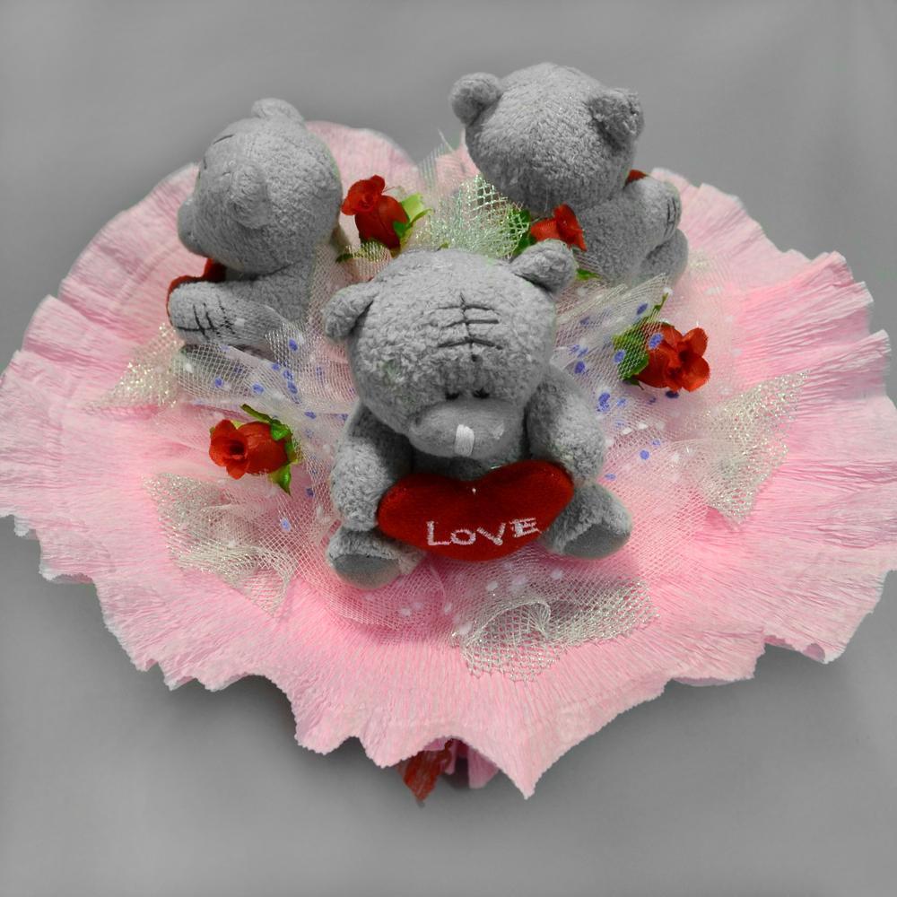 Букет из игрушек Миша ТэдПодарки к 8 марта<br><br>