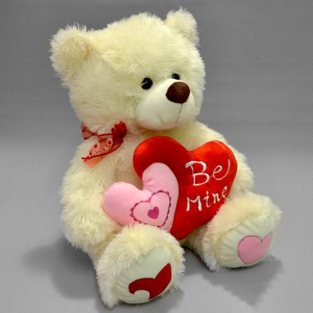 Мягкая игрушка мишка Be mine с сердцемПодарки к 8 марта<br><br><br>Размер: 40 см