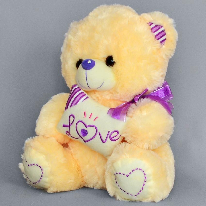 Мягкая игрушка мишка Пушистик с подушкойПодарки к 8 марта<br><br><br>Размер: Фиолетовый