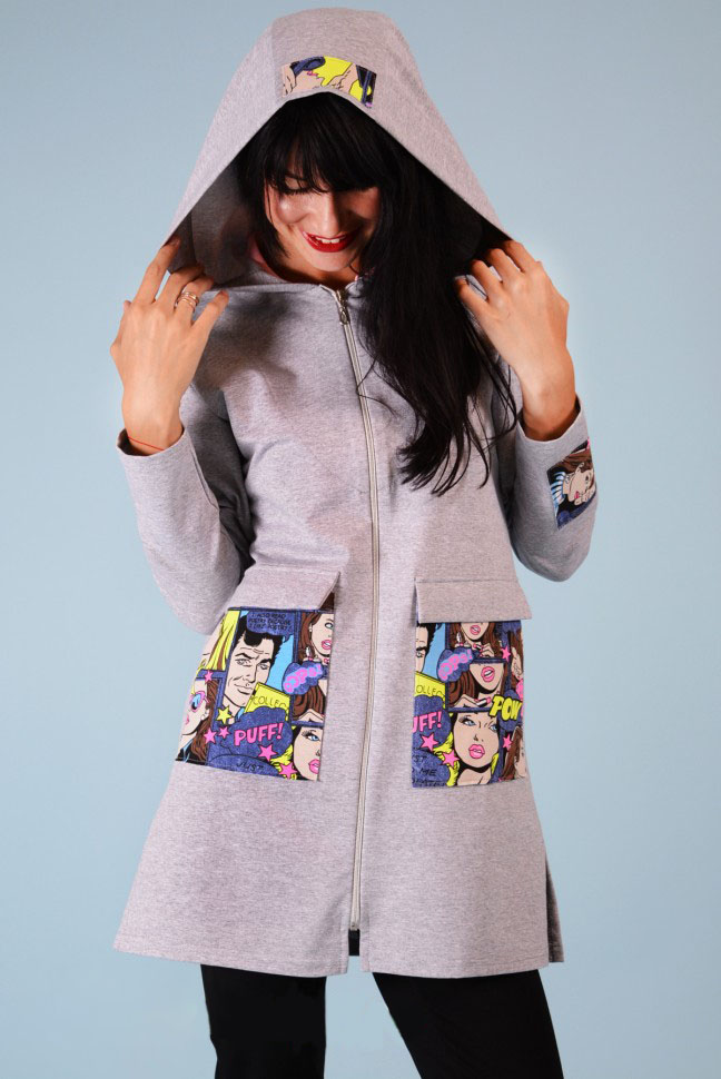 Кардиган женский Сheeky с капюшономКоллекция ОСЕНЬ-ЗИМА<br><br><br>Размер: 52
