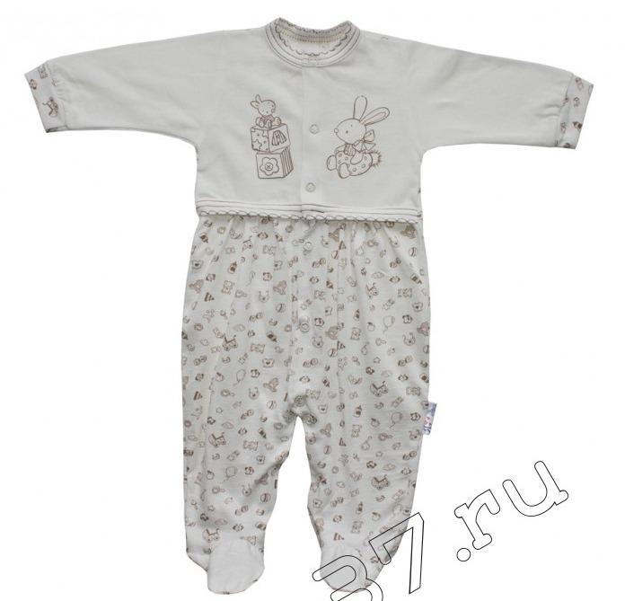 Комбинезон детский с длинным рукавом ЗайчикКомбинезоны и полукомбинезоны<br><br><br>Размер: 68