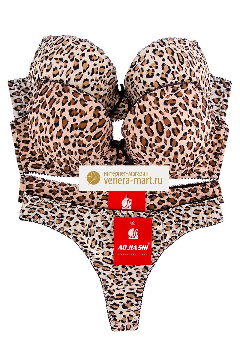 Комплект нижнего белья женский Лео в упаковке, 2 шт.Бюстгальтеры и комплекты<br><br><br>Размер: 44-46