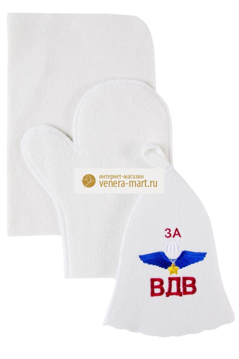 Набор банный За ВДВ в упаковке, 3 предметаПодарки к 23 февраля<br><br><br>Размер: 57-58 см