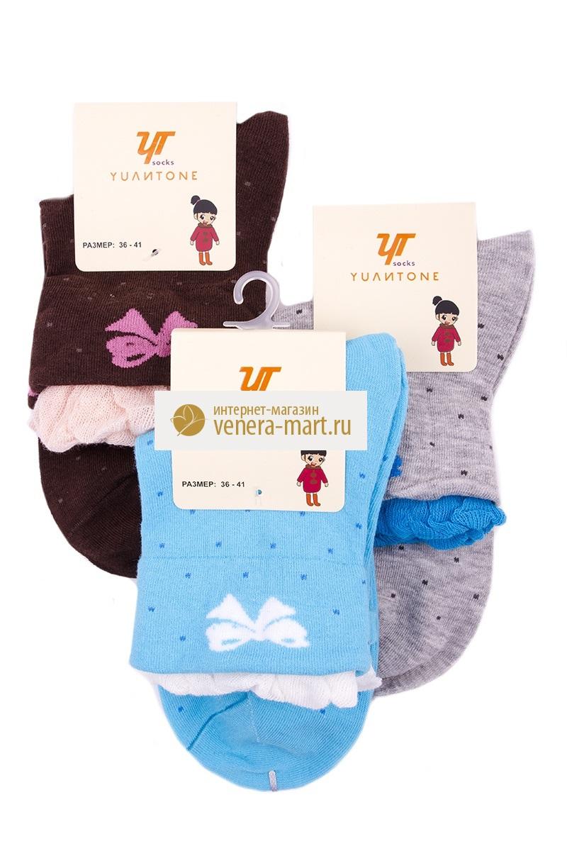 Носки женские Yulitone в упаковке, 4 парыНоски<br><br><br>Размер: 36-41 (универсальный)
