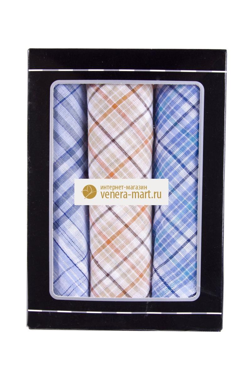 Подарочный набор мужских носовых платков Джентльмен в упаковке, 3 шт.Подарки к 23 февраля<br><br><br>Размер: 39х39 см