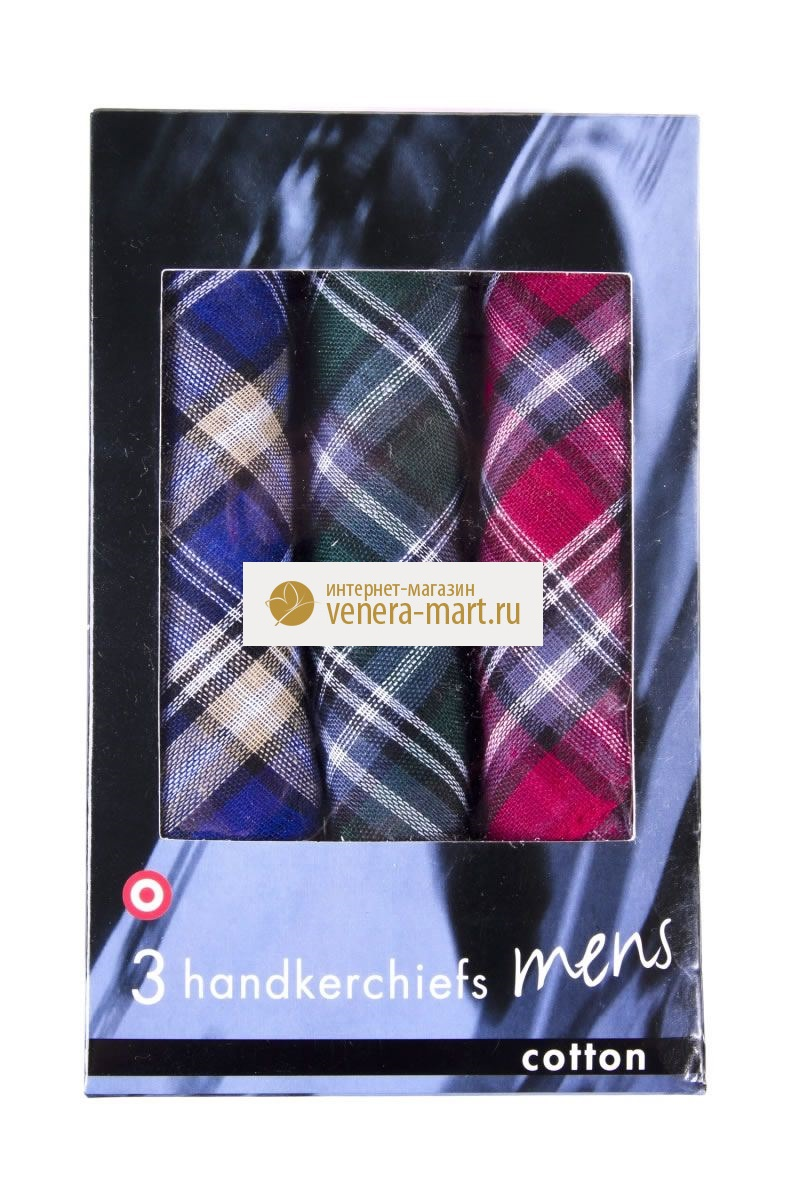 Подарочный набор мужских носовых платков Лорд в упаковке, 3 шт.Подарки к 23 февраля<br><br><br>Размер: 36х36 см